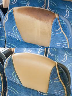 oprava kožených sedaček autobus