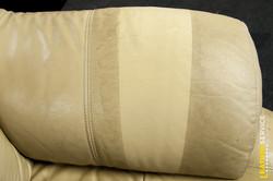 Test čištění kožené sedací soupravy