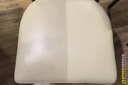 Test čištění kožené židle
