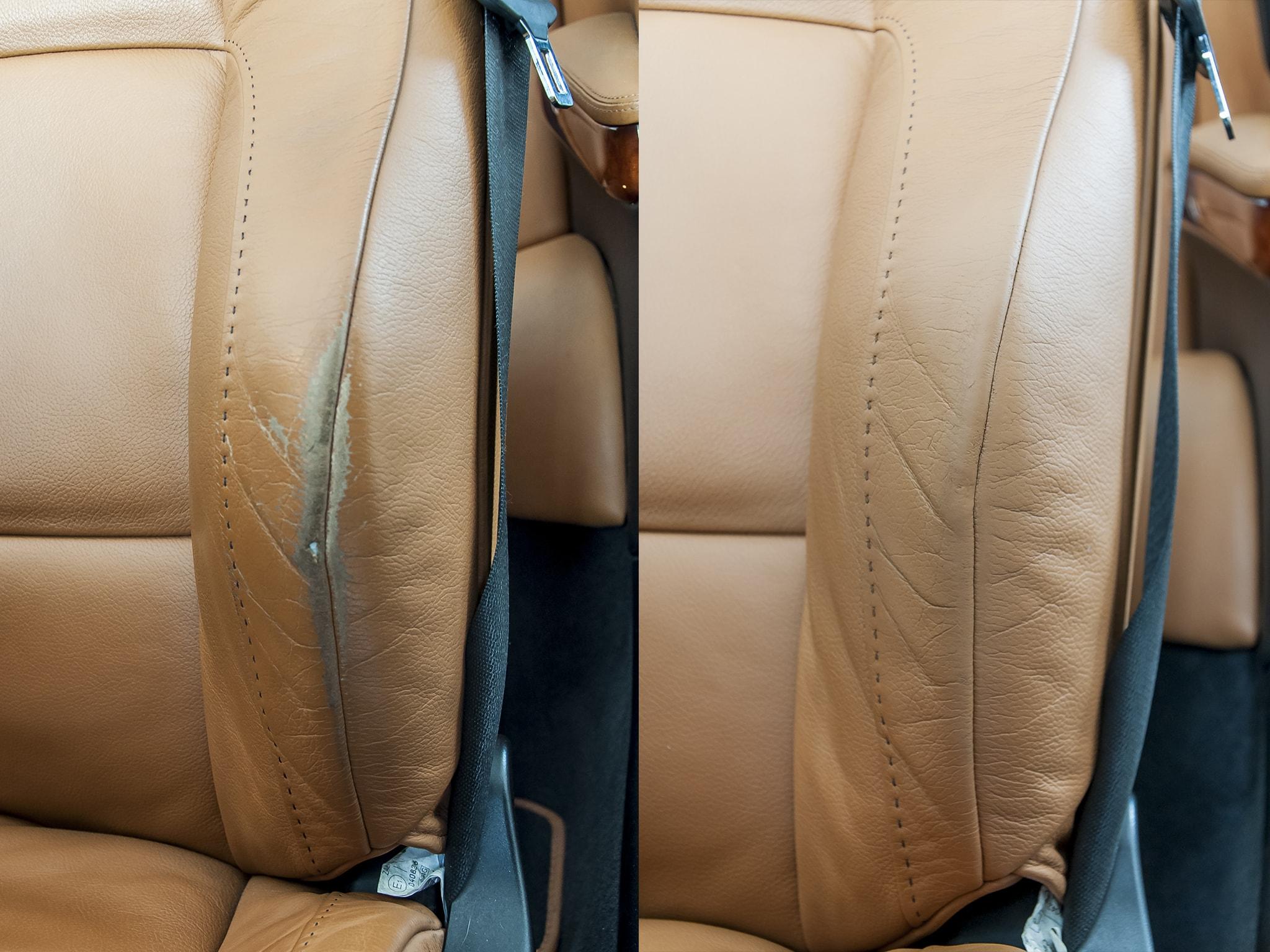 oprava kožené sedačky BMW 335i