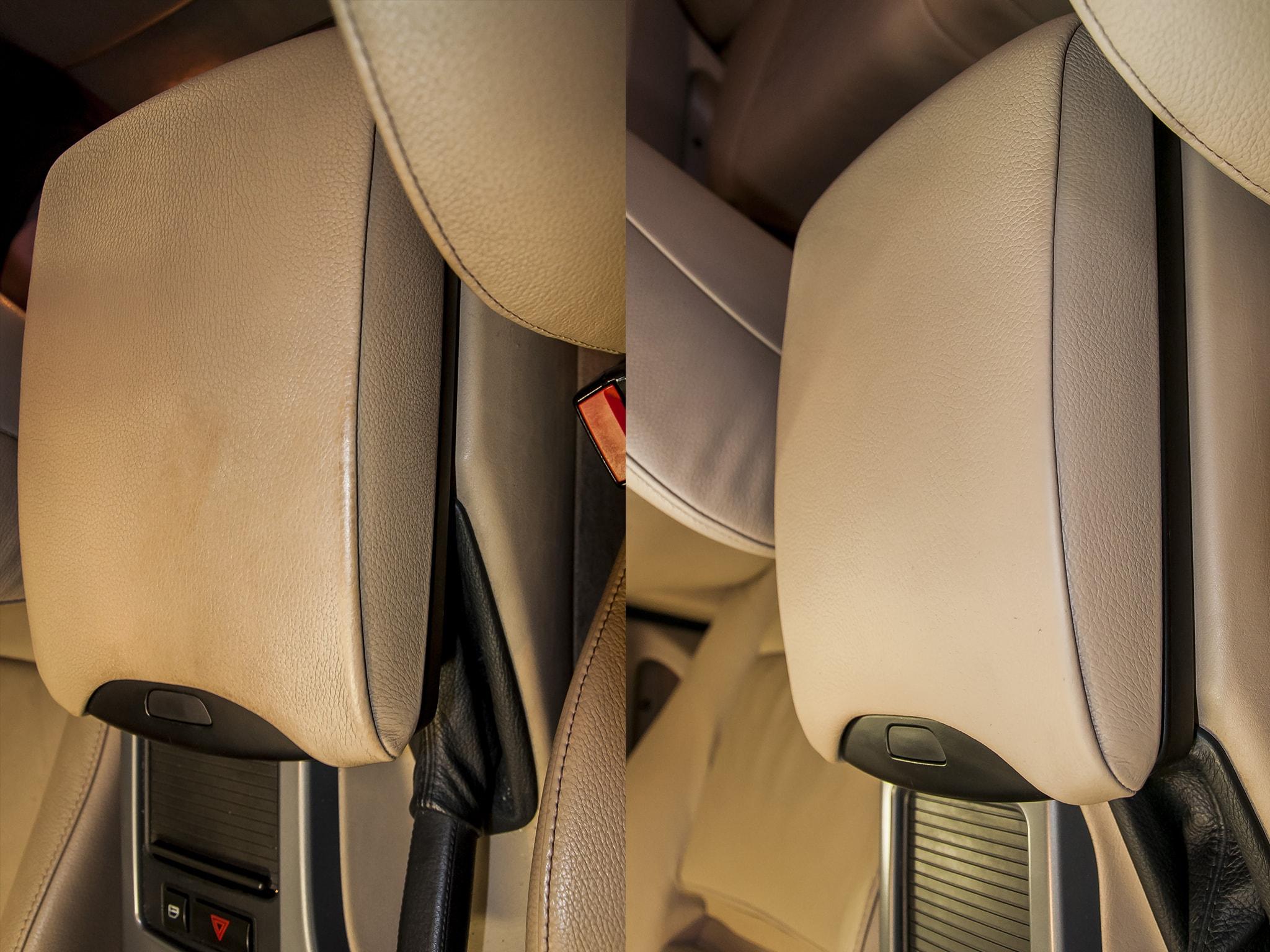 oprava kožené loketní opěrky BMW X5