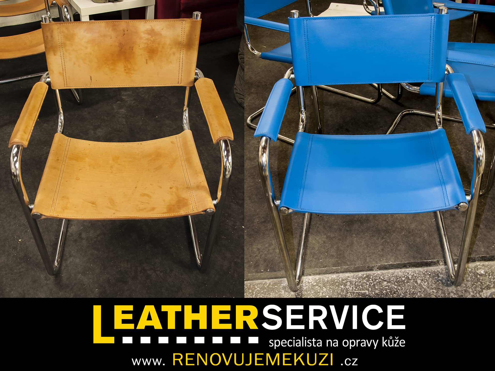změna barvy židlí