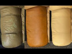 oprava kůže na sedačce