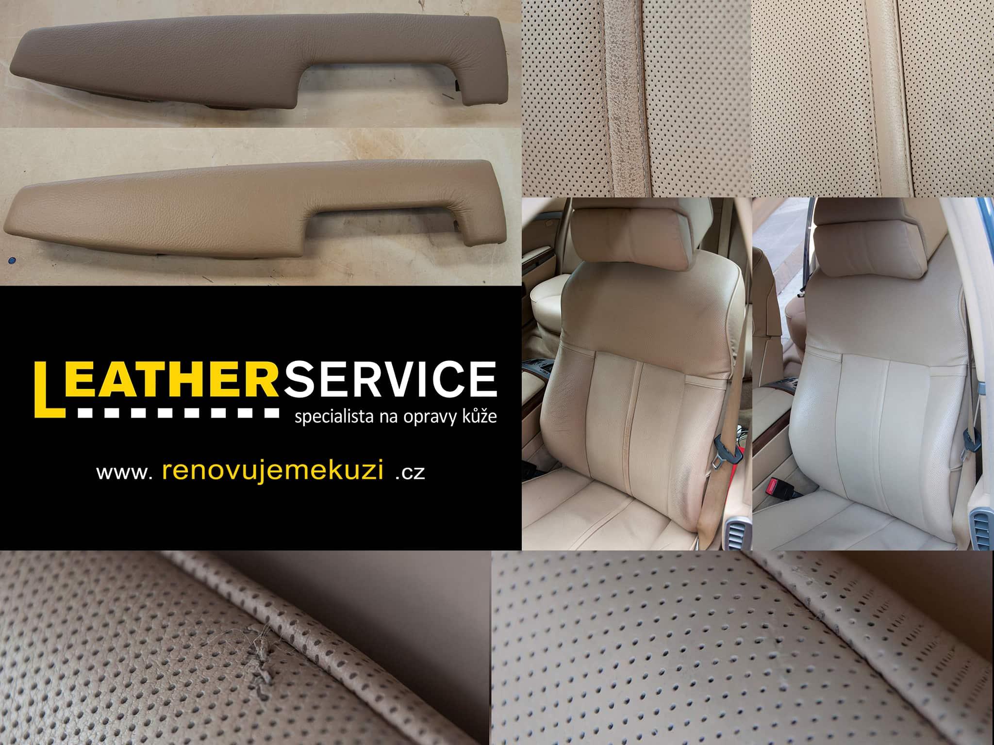 oprava kožených sedaček BMW 7er E65