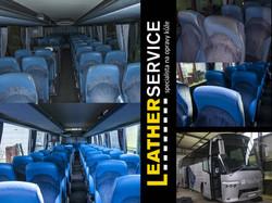 oprava kůže v autobuse