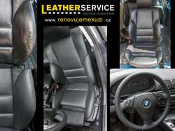 oprava kůže v BMW 3er E46