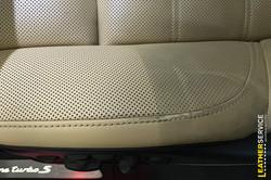 Test čištění kůže autosedačky