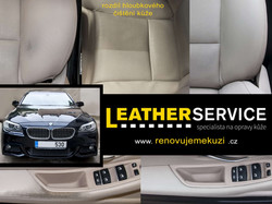 oprava kožených sedaček BMW 5er F10