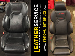 oprava kožených sedaček AUDI RS6