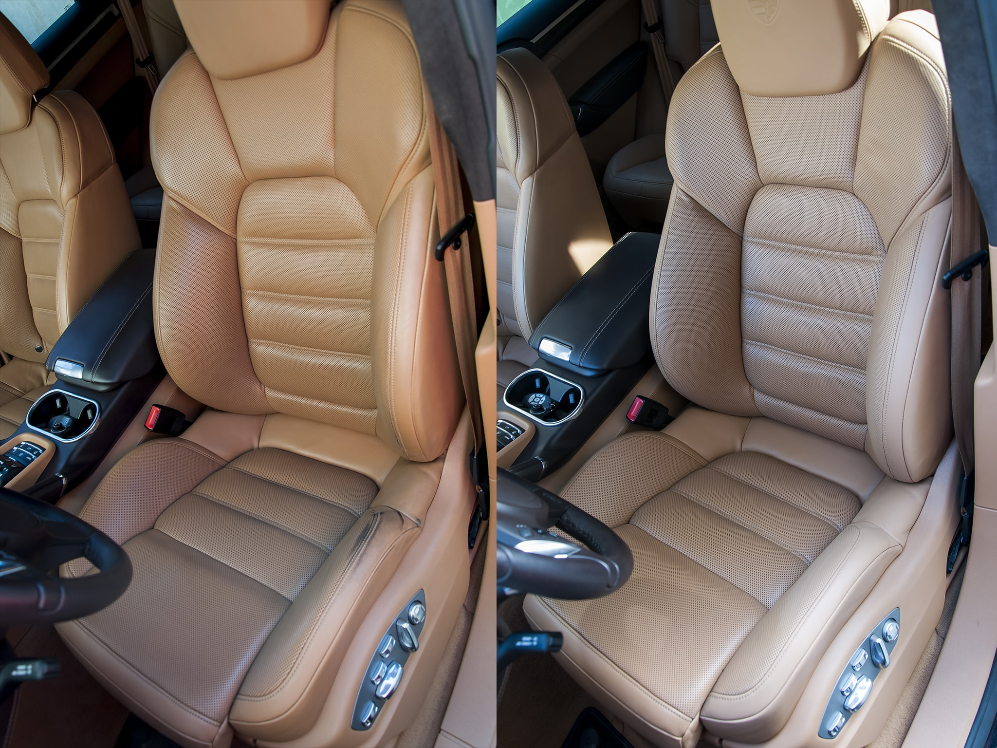 oprava sedačky Porsche Cayenne Turbo