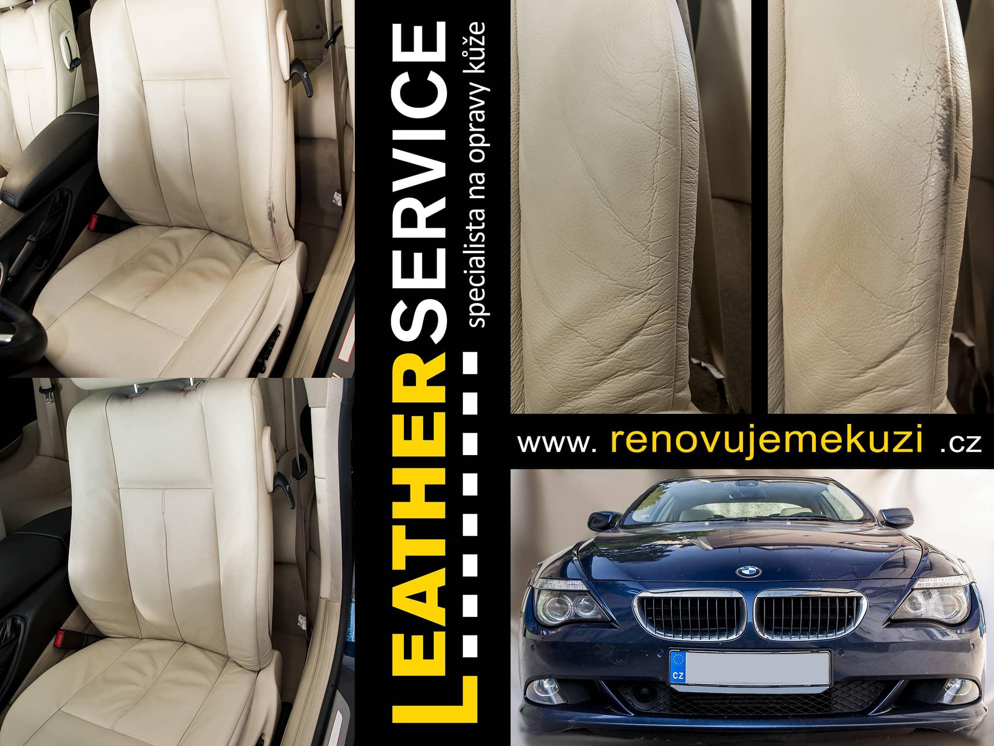 oprava kožených sedaček BMW 6er