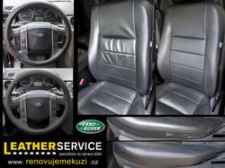oprava kožených sedaček Land Rover