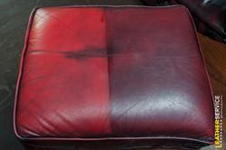 Test čištění kožené sedačky