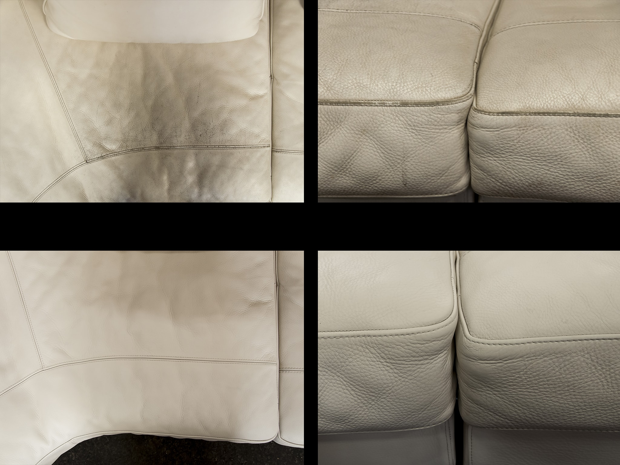 oprava kožené sedací soupravy Natuzzi
