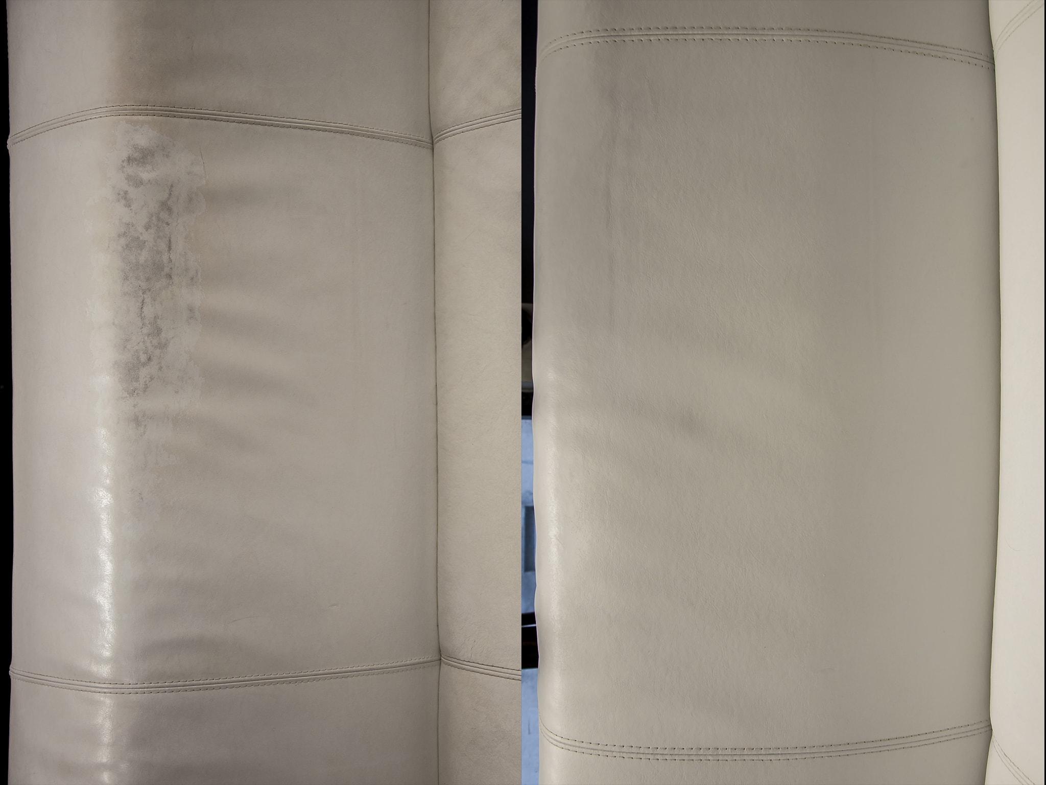 oprava kožené sedačky po použití přípravku 2v1