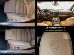 oprava kůže v Porsche Cayenne Turbo