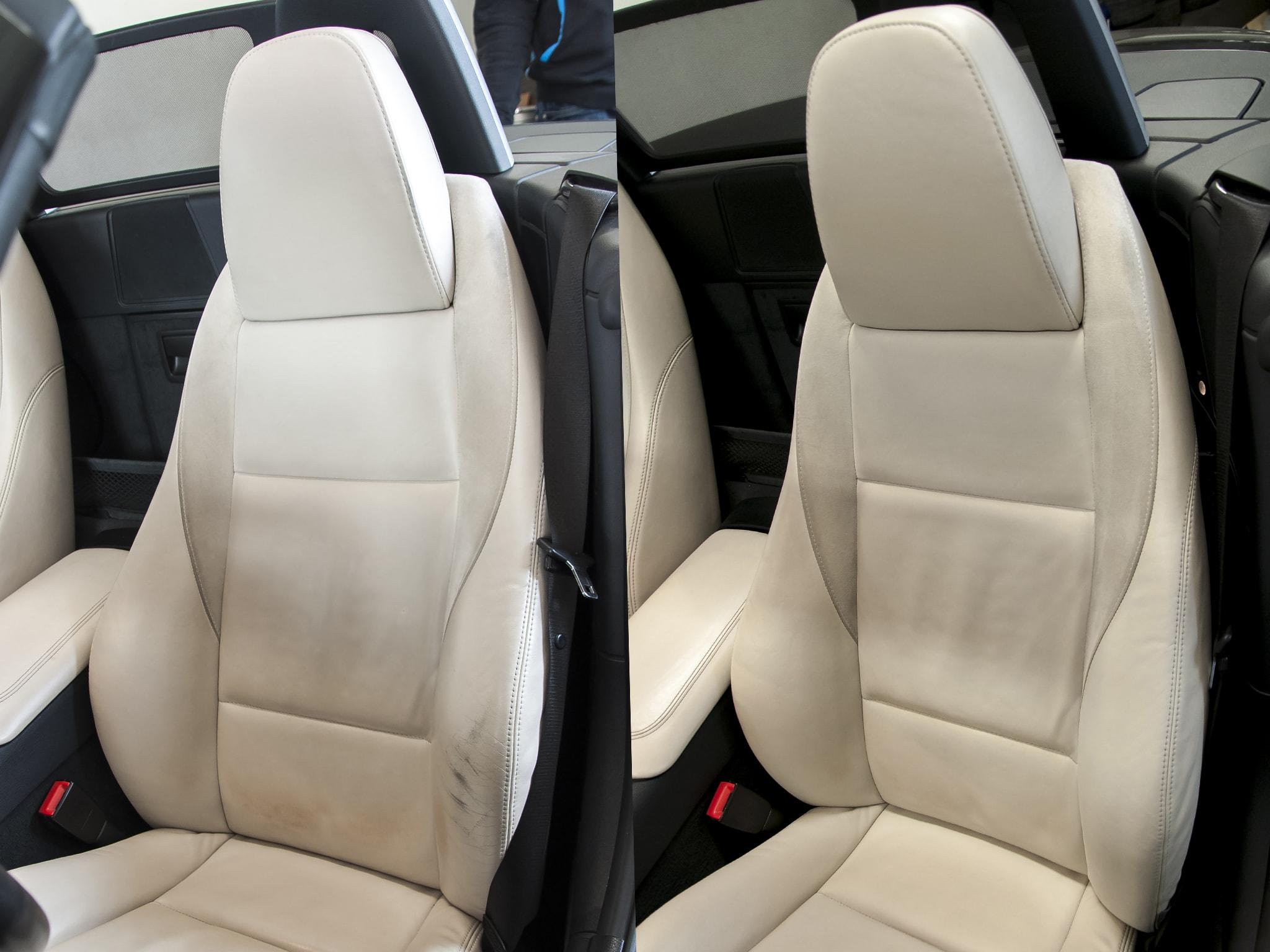 oprava kožené sedačky BMW Z4