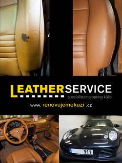 oprava kožených sedaček Porsche