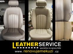 oprava kožených sedaček Jaguár