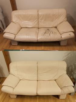 oprava kožené sedačky