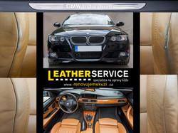oprava kožených sedaček BMW 335i