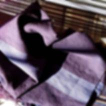 sciarp in lana merinos con motivi garzati