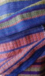 stola a trame lanciate in lana e cashmere