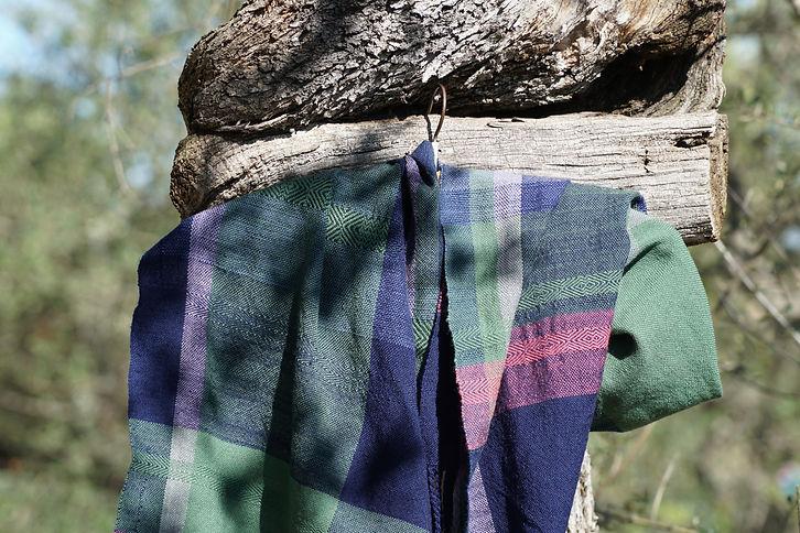 sciarpa multicolore in lana merinos