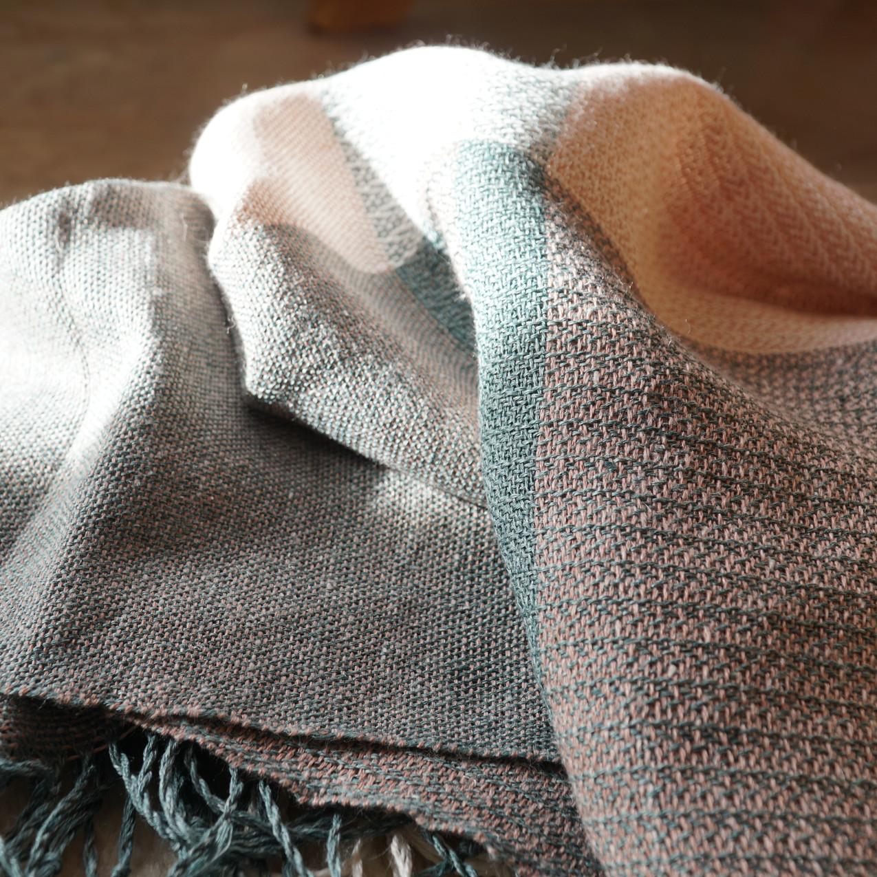 sciarpa in lino e ortica