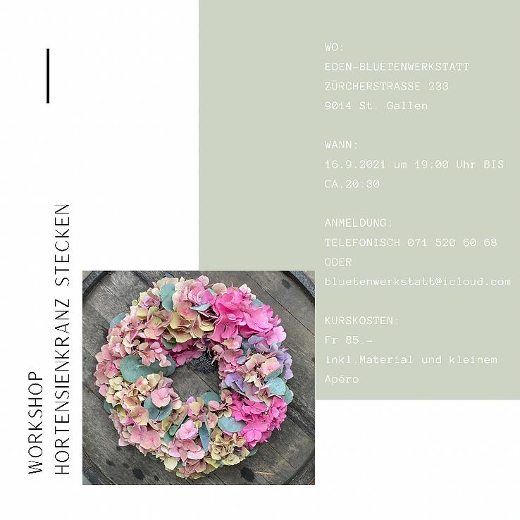 Workshop Hortensienkranz