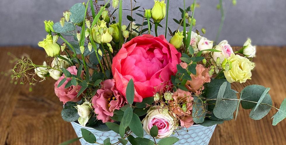 Blumengesteck (mit Saisonalen Blumen)