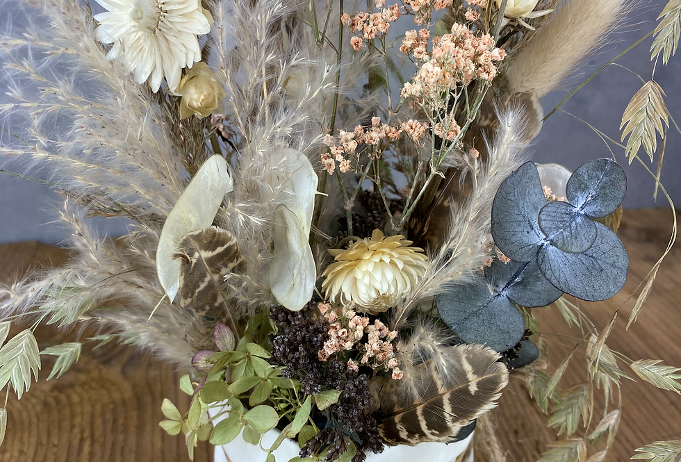 Trockenblumen Gesteck