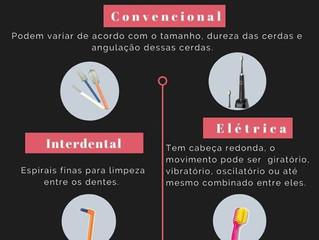 Tipos de escova de dentes