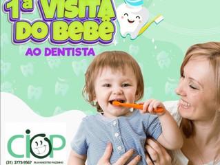 1º Visita do bebê ao dentista.