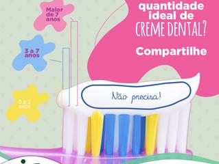 Quantidade ideal do creme dental, você sabe?
