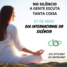Dia internacional do silêncio.
