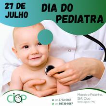 Dia do pediatra.