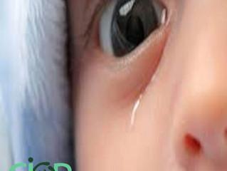 Porque bebês choram sem lágrimas?