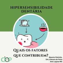 Hipersensibilidade dentária.