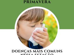 Primavera, doenças mais comuns nessa estação.