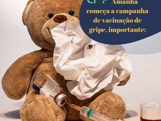 Vacina Gripe : 10 DE ABRIL