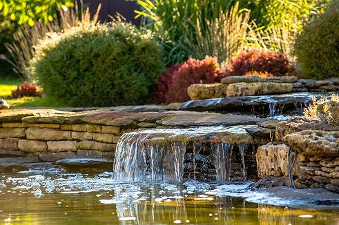 waterfall+backyard+pond+pondless+plantin