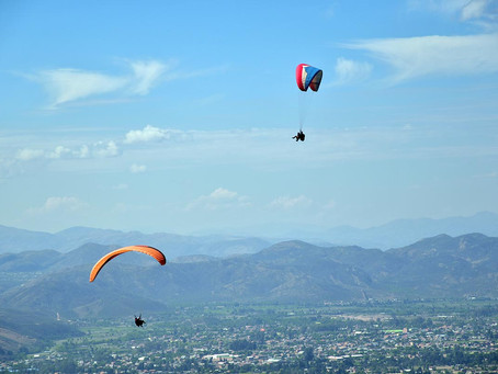 Paragliding in der Cordillera Tunari