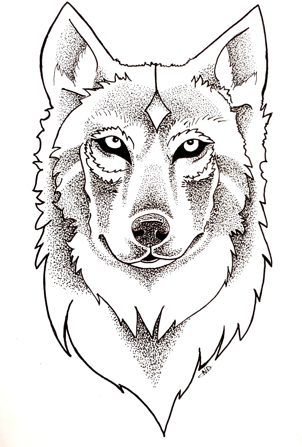 Loup pointillisme