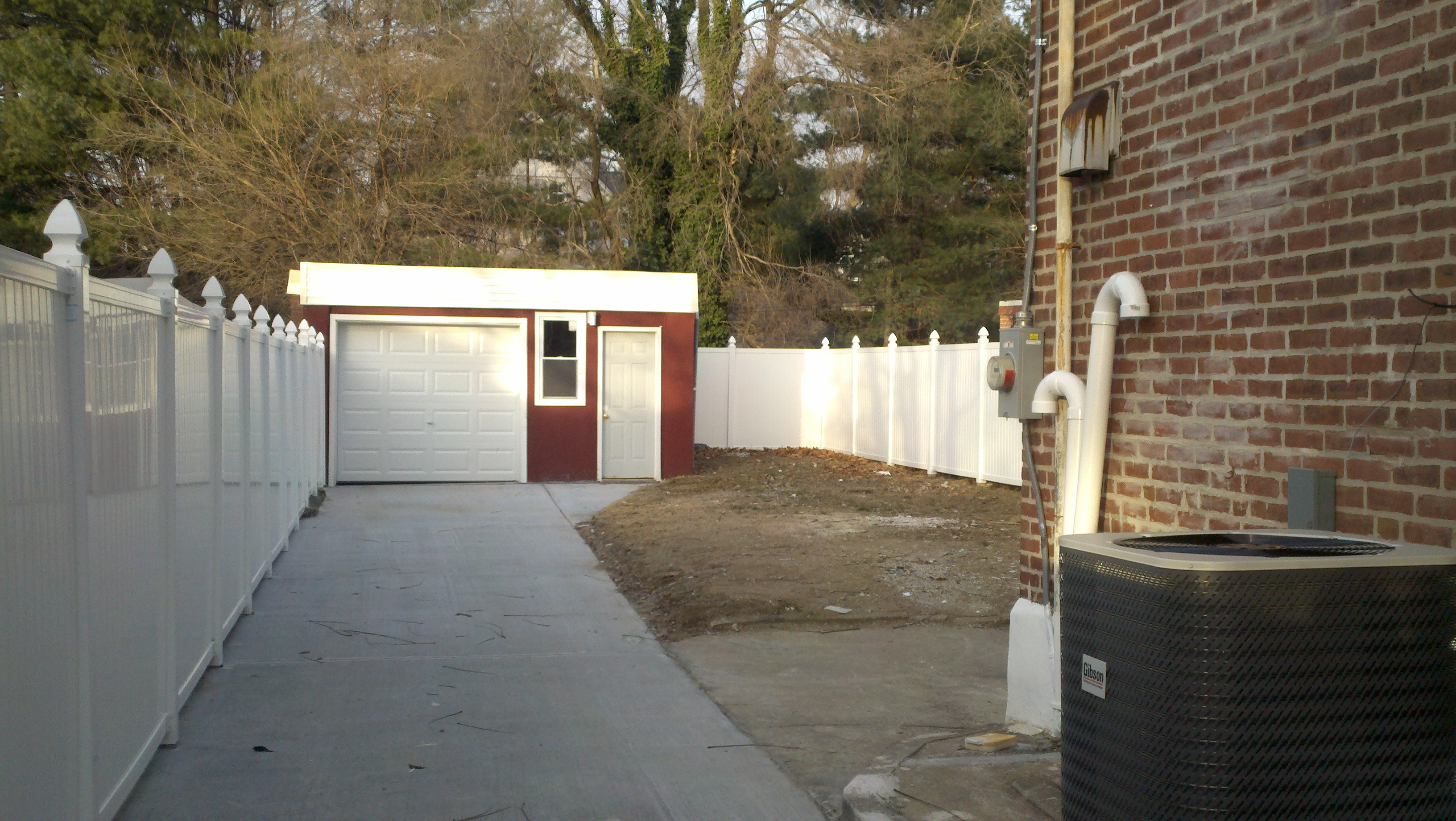 New Garage with Driveway