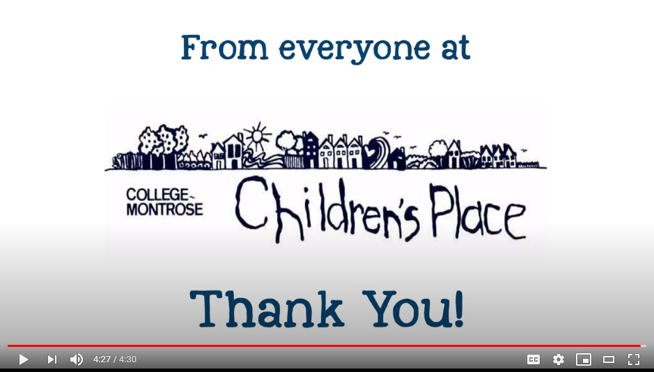 Big Toddle Thank You Video