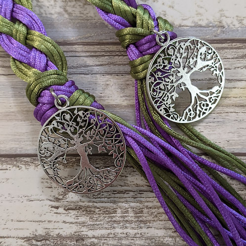 12 Strand Violet and Olive Handfasting Cord