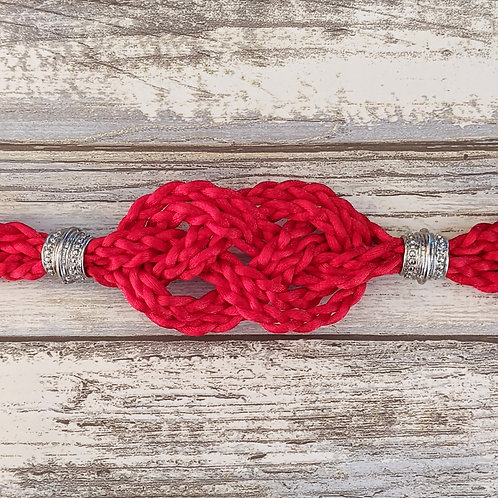 Red Handfasting Cord With Infinity Knot