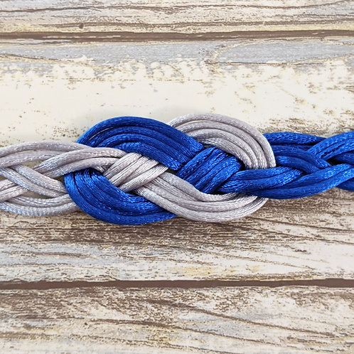 Royal Blue and Silver 12 Strand Handfasting Cord With Infinity Knot