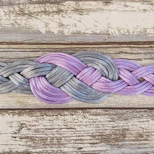 Lilac and Silver 12 Strand Handfasting Cord With Infinity Knot